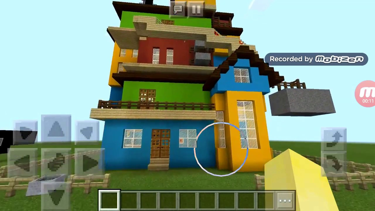 The house of the Hello Neighbor Act 3 in Minecraft made by BG