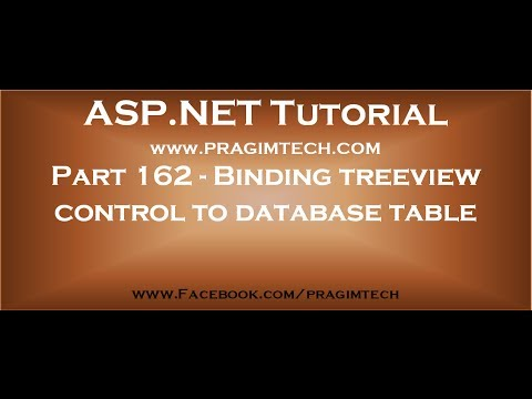 Part 162   Binding asp net treeview control to database table