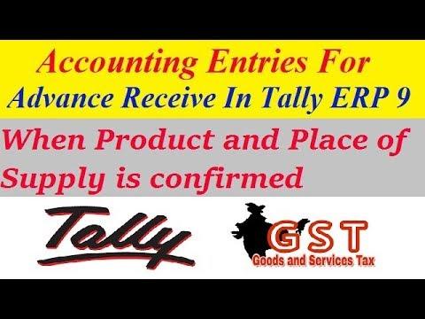 GST On Advance Receipt In Tally | Advance Payment Received Entry | GST Advance  Receipt | GST Video  Advance Payment Receipt