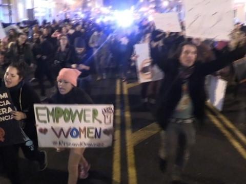 Raw: Washington DC Marches Continue Into Night