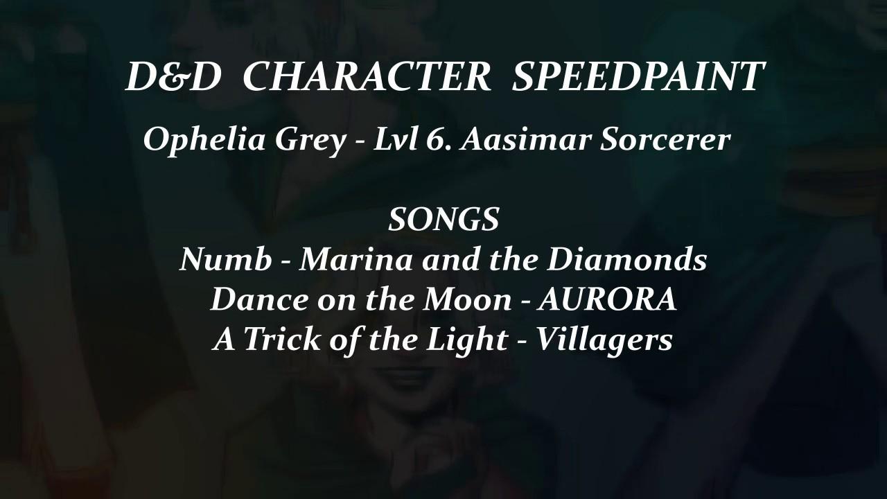 Aasimar Sorcerer d&d character speedpaint - aasimar sorcerer