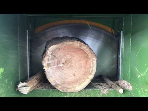 SPECIAL PEZZOLATO FIREWOOD EQUIPMENT INSTALLED IN U.S.A. TO PROCESS ANY TYPE OF LOGS - FULL CAPACITY