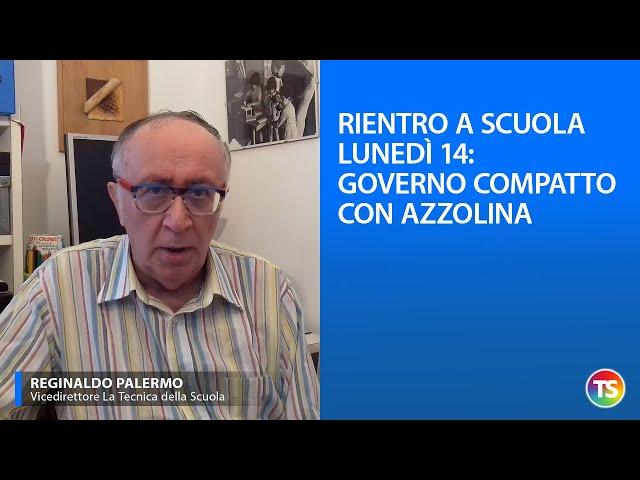 Rientro a scuola lunedì 14: Governo compatto con Azzolina