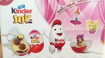 Trứng Kinder Joy Trò chơi bóc kẹo trứng socola Kinder joy surprise eggs unwrapping шоколадное яйцо