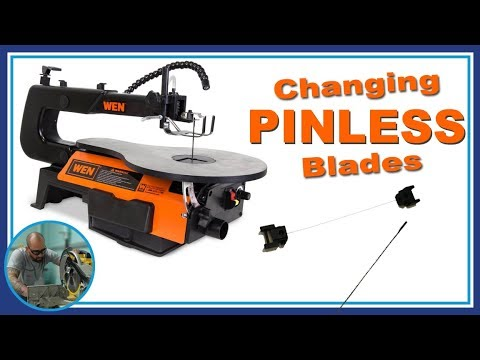 Changing pinless blades on the wen scroll saw youtube changing pinless blades on the wen scroll saw greentooth Images