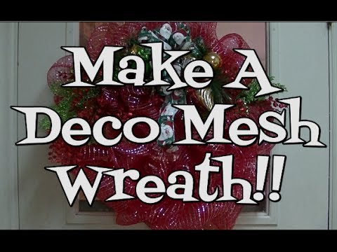 How To Make A Deco Mesh Wreath Noreen S Kitchen Youtube