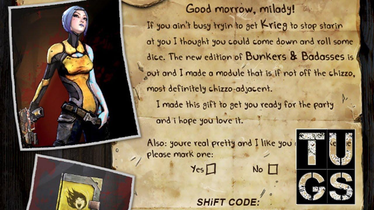 Maya Class Mod Shift Code Free Borderlands 2 SHIFT CODE Playstation 3, Xbox  360, Mac,