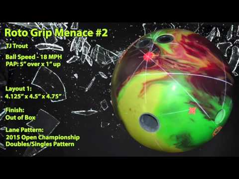Roto Grip Menace Bowling Ball Reaction Video Ball Review {vs} Hysteria