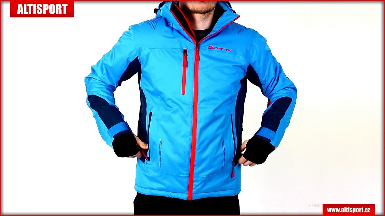 87df7ef0b94 pánská lyžařská bunda alpine pro mikaer 2 mjcm306 modrá - YouTube