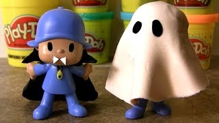 Pocoyo Play Doh Dracula Halloween Costume How-To Make Ghost Costume with Playdough  ぽこよ