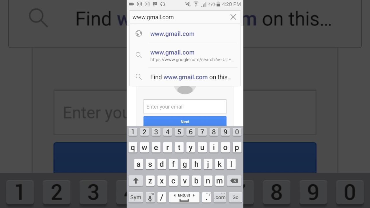 كيفية عمل بريد الكتروني باستخدام الجوال