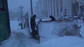 Палаточный городок Саакашвили под снегом
