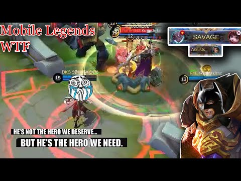 WTF Mobile Legends Funny Moments  300 IQ Tigreal THE HERO!