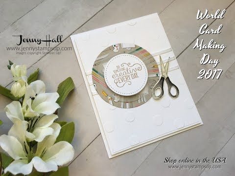 Happy World Card Making Day handmade card using Stampin Up products with Jenny Hall