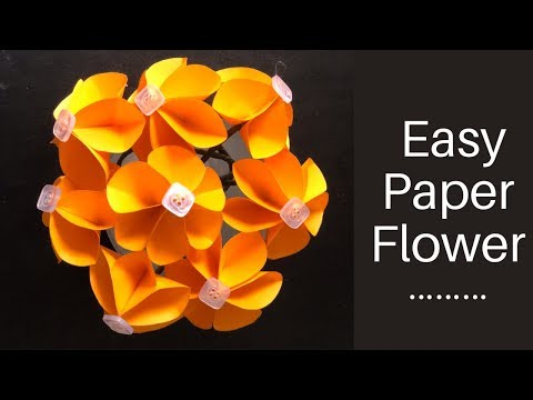 DIY paper flowers / very easy and simple paper crafts / easy paper flower making / flower bouquet