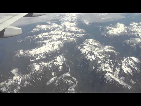 Toronto-to-Victoria BC flight: takeoff,  Rockies, Vancouver, Gulf Islands, landing 2011-07-02