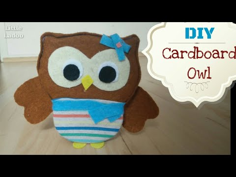 How to DIY Owl with cardboard