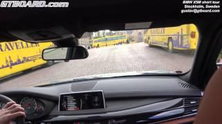 [4k] F85 BMW X5M 575 HP shorter testdrive in the city of Stockholm, Sweden