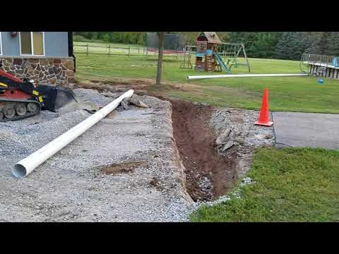 Open French Drain for Commercial Building in Oakland & Macomb County, MI