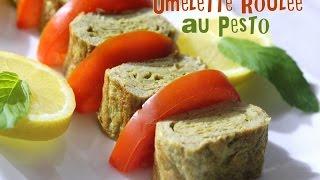 Omelette Roulée Au Pesto / Omelette Roll Pesto
