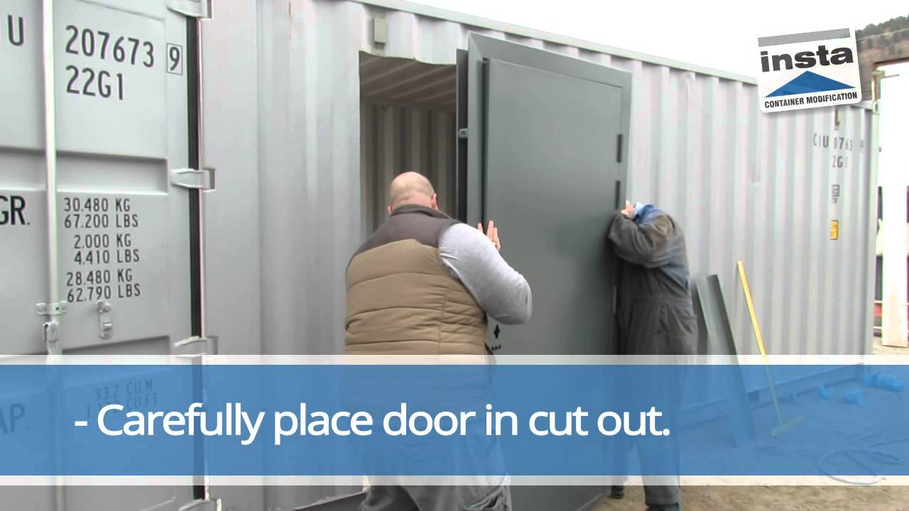 Door Installation For Container Storage Quick, Simple And Watertight    YouTube