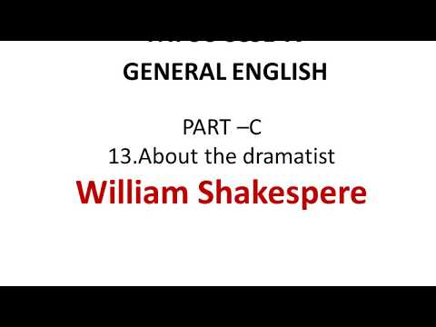 William Shakespere-About dramatist-TNPSC  GROUP 2/2A CCSE IV,GROUP 4 all competitive exams,