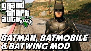 GTA V – Batman com Batmóvel e Batjato MOD