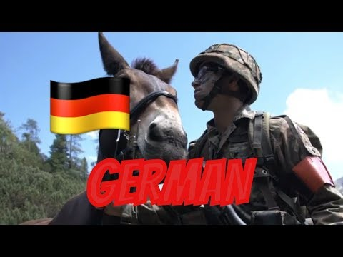 GERMAN Military Mountain Infantry Still Using Horses & Mules (2019)