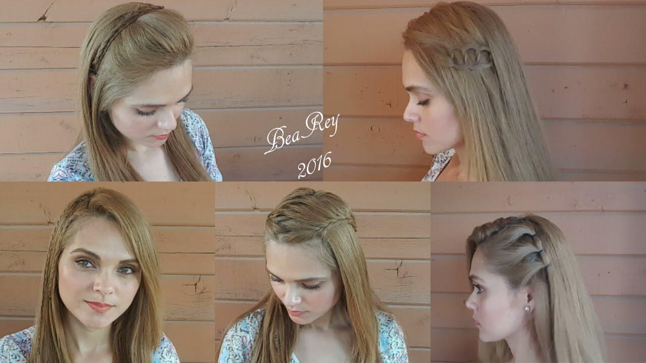 5 Peinados Para La Escuela Con El Cabello Suelto1 Para Cada Día