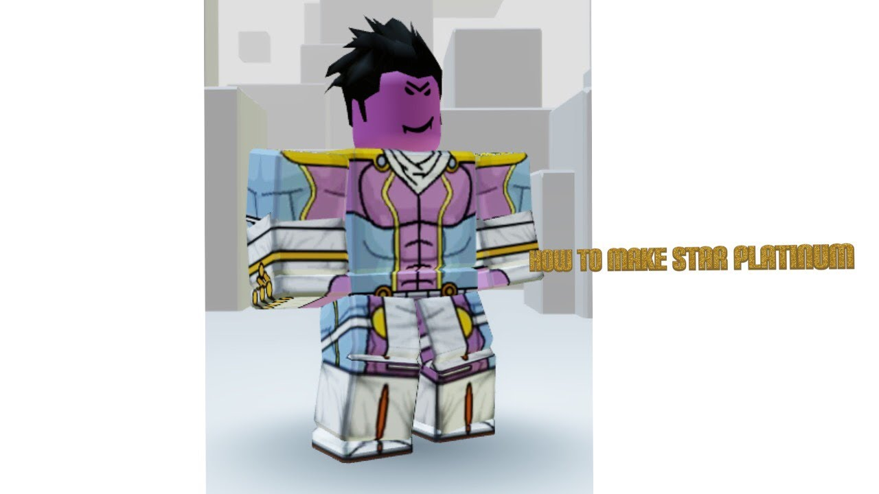 How To Make Star Platinum For Your Roblox Avatar Youtube