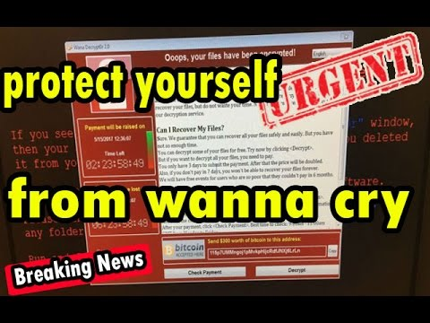 How to protect yourself from wanna cry ransomware✋✋✋