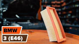 Kaip pakeisti Variklio oro filtras BMW 3 E46 [PAMOKA]