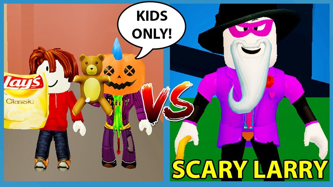 KIDS ONLY CHALLENGE VS SCARY LARRY!! - Roblox Break In
