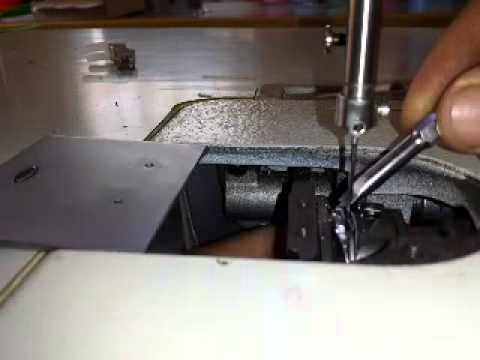Ajuste de Cangrejo de maquina de coser - YouTube