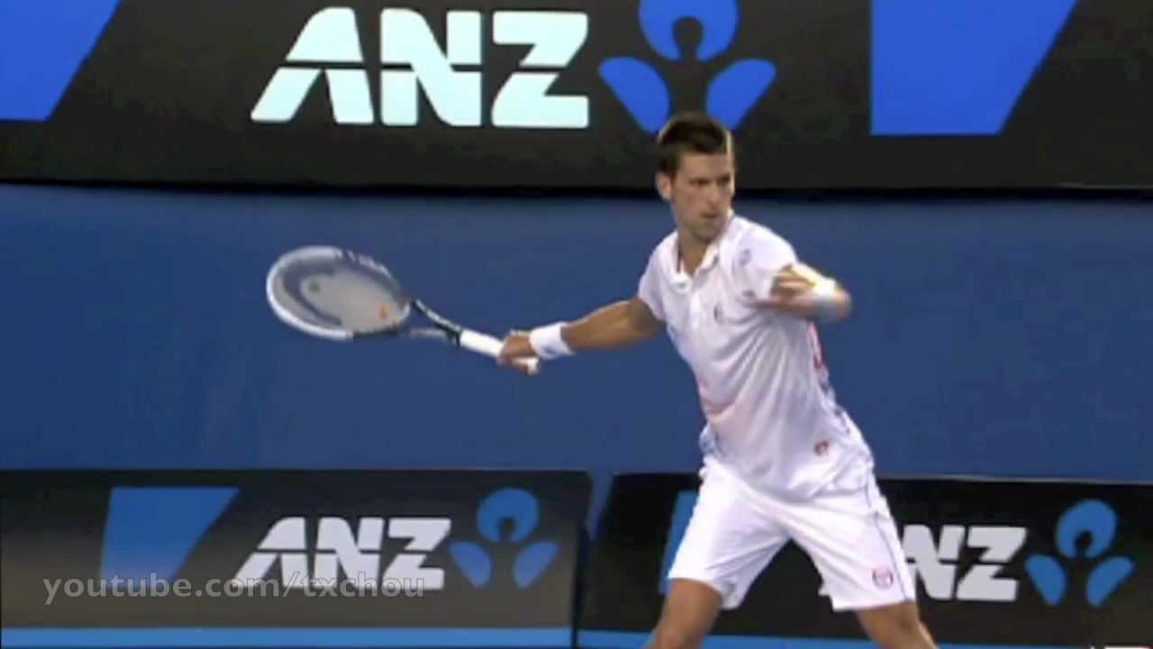 Novak Djokovic Forehand In Slow Motion Youtube