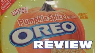 Pumpkin Spice Oreo Cookie Review - Oreo Oration