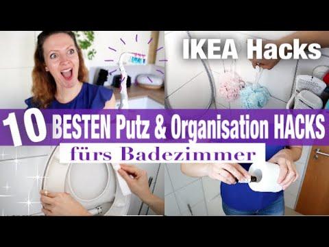 10 BESTEN Putz & Organisations BADEZIMMER HACKS | IKEA HOME ORGANISATON  HACKS | Haushalt Tipps