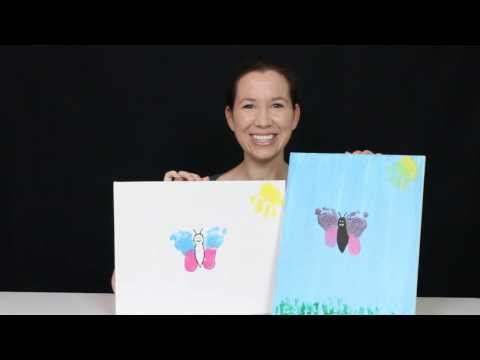 HOW TO MAKE BABY FOOTPRINT ARTWORK - BUTTERFLY