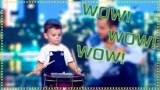 2 Year Old Drummer Gets Standing Ovation Brilliant Audition - Spain's Got Talent 2019
