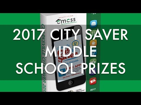 Middle School City Saver Prize Video 2017
