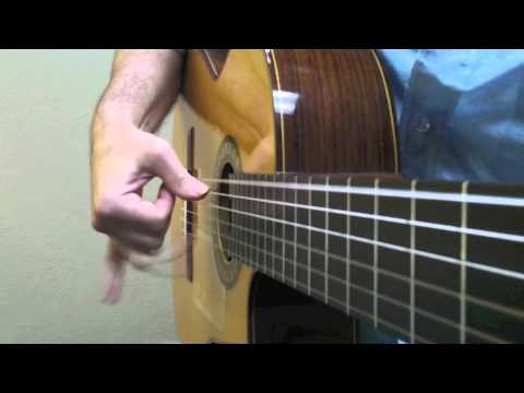 Flamenco Guitar right hand technique drill
