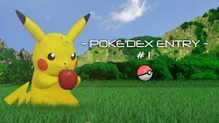 Pokemon 3D Animation - Pokedex Entry #1 - Pikachu