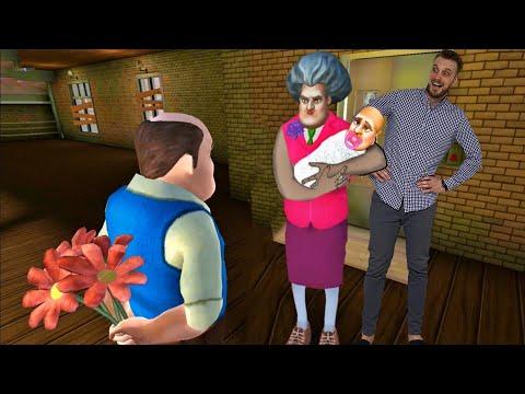 LUDA UČITELJICA IMA BEBU SA LUDIM KOMŠIJOM?- Scary Teacher 3D Igrica