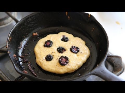 Cornmeal Blackberry Pancakes Recipe - Southern Queen of Vegan Cuisine 26/328