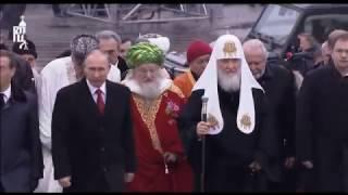 Церемония открытия памятника св. равноап. великому князю Владимиру на Боровицкой площади в Москве