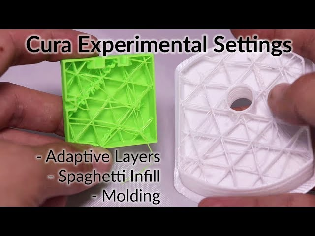 Cura Experimental Settings - Adaptive Layers, Spaghetti Infill, and Molding
