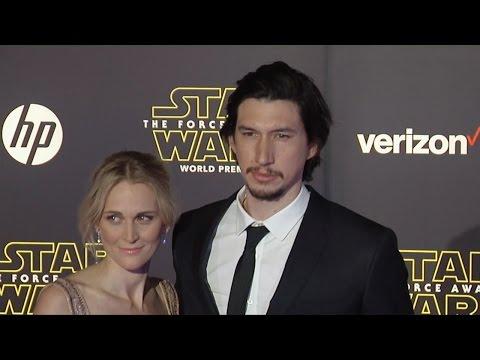 "Adam Driver & Joanne Tucker ""Star Wars The Force Awakens"" World Premiere"
