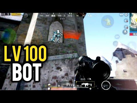 LV 100 God Bot Is Unkillable | PUBG Mobile