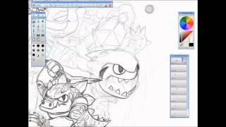 Skylanders Speed Drawing