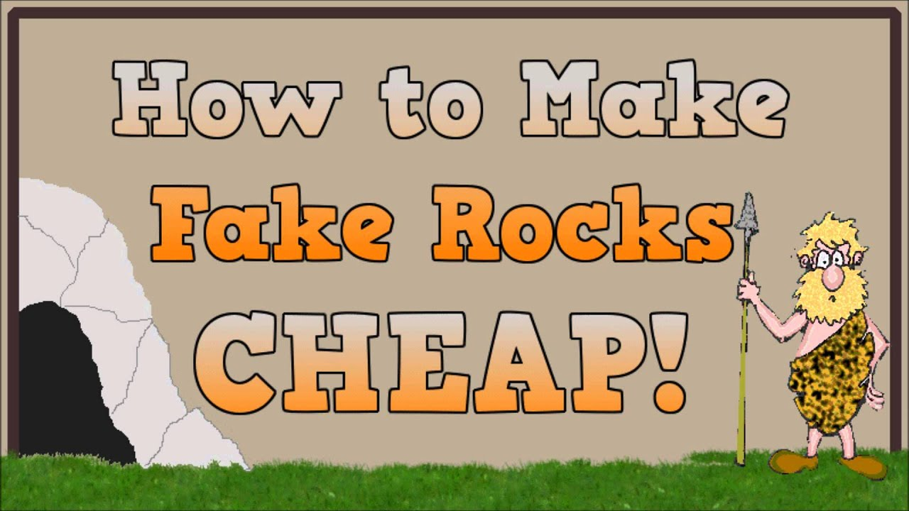 How To Make Fake Faux Artificial Rocks YouTube
